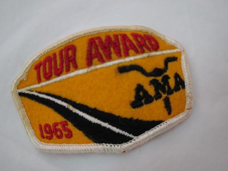 1965 AMA Tour Patch Award