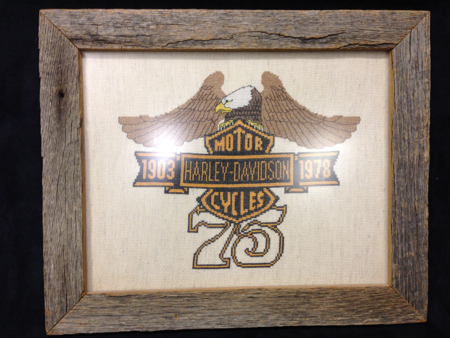 Harley Davision 75th Anniversary Folk Art