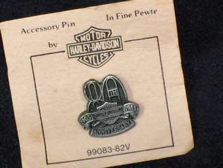 Harley Davidson 80th Anniversary Pin