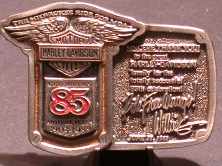 85th Anniversay Willie G Buckle