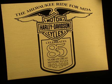 85th Anniversary Brass Plaque
