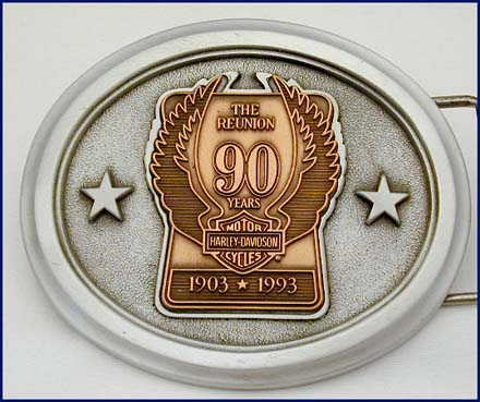 90th Year Reunion Pewter Belt Buckle