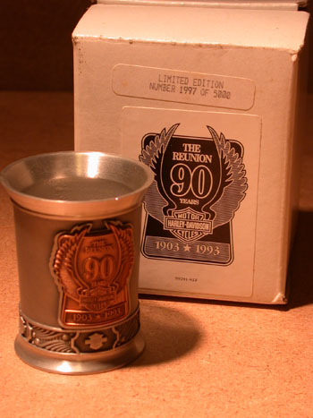 90th Anniversary Pewter Shot Glass