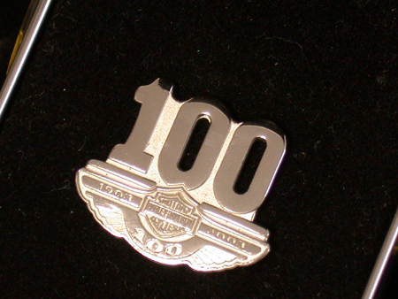 Phase 2 Harley  100th 9.25 sterling Pin
