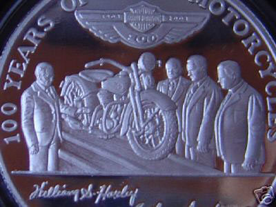 Harley-Davidson 100th employee coin