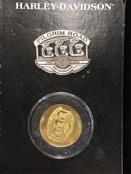 100th Anniversary Pilgram Road Pin and Coin