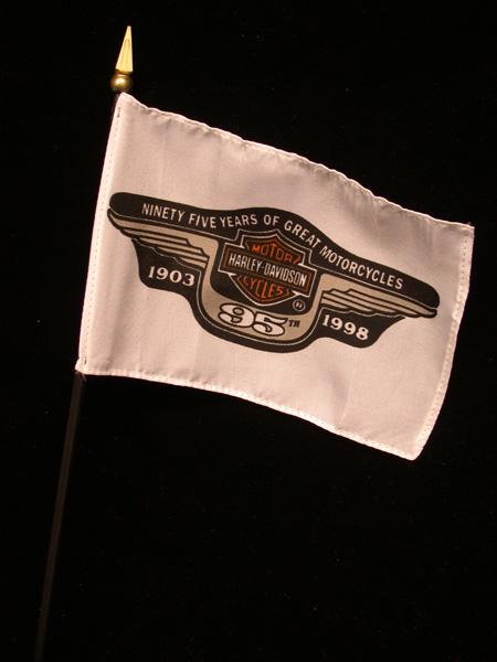 Harley Davidson 95th Anniversary Small Flag