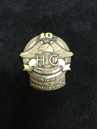 HOG 10TH Anniversary Bronze Pin
