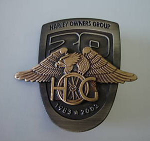 HARLEY DAVIDSON 20TH AN OWNERS GROUP HOG PIN