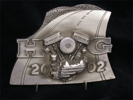 2000 Harley Owners Group Appreciation Plaque