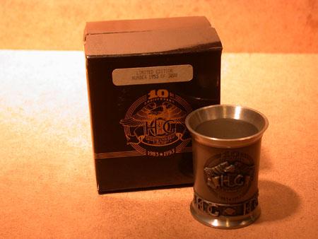 10th Anniversary HOG pewter Shot Glass