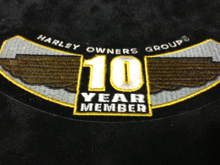 HOG 10TH Anniversary Patch