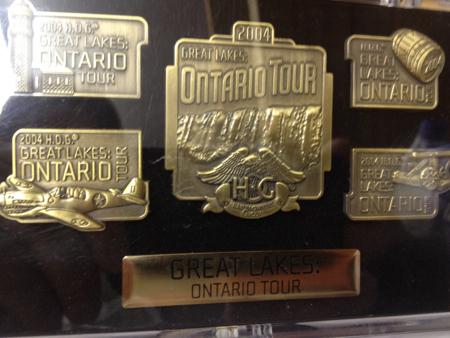 HOG Tour Pin Set Great Lakes Ontario Tour