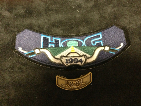 HOG 2001 PATCH AND PIN