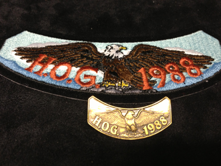 HOG 1988 PATCH AND PIN