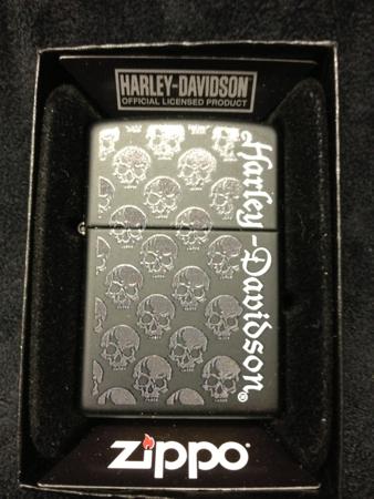 Harley-Davidson Black Matte Multi Skull Zippo
