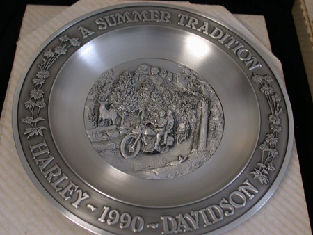 Summer tradition pewter Plate