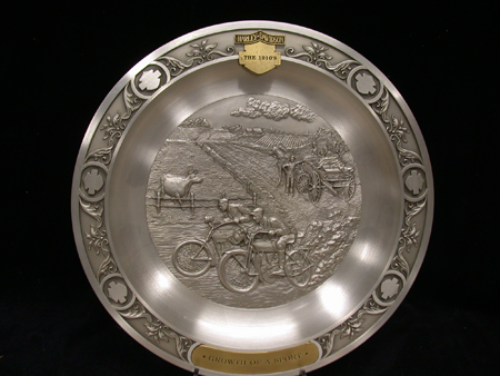 Growth of a the Sport 1910 Pewter Plate