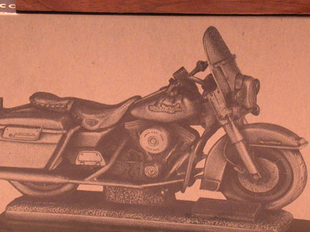 1995 FLHR Road King Pewter Replica