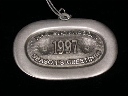 1997 Dealer Only Christmas Pewter Ornament