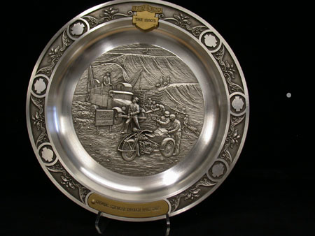 Pewter 1930 Decades plate