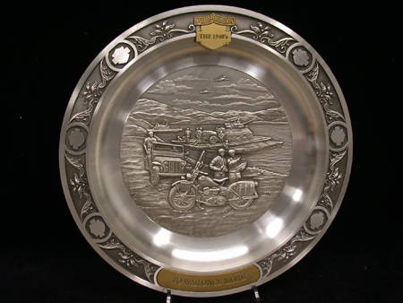 To War Once More 1940s Pewter Plate