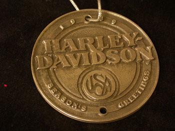Harley Davidson 1989 Pewter Dealer Ornament