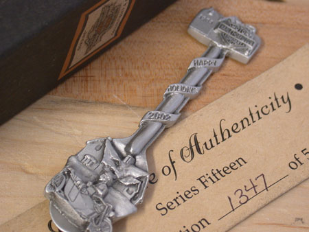 2002 Christmas Pewter Spoon