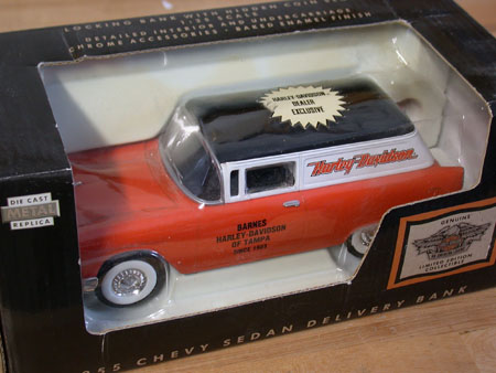 Tampa Harley Dealer 55 Chevy Coin bank