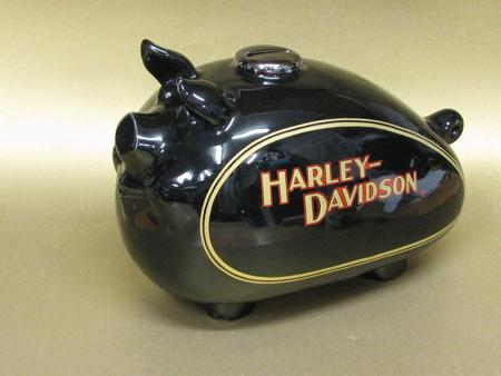 Vintage Harley Davidson Ceramic Hog Bank