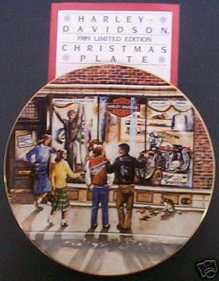 Harley Christmas Collector Plate 1989 NOS NEW