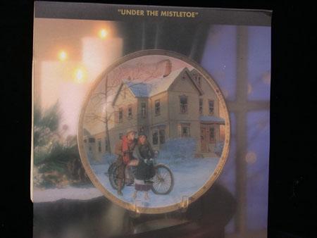 Under the Mistletoe Christmas Plate