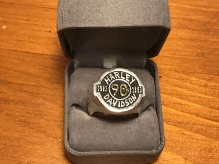 Harley Davidson 90 Anniversary Sterling Ring