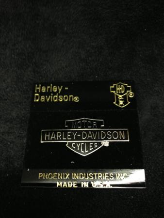 Harley Davidson Black Bar & Shield Pin 90\'s