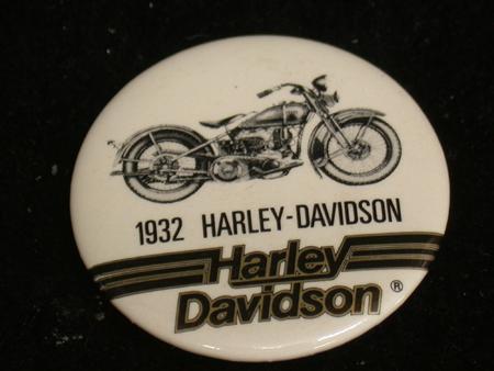 1932 Harley Davidson Pinback