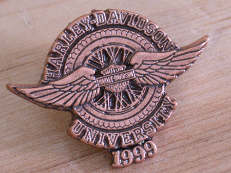 1999  Harley University Pin