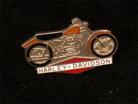 Harley Davidson Vintage Bike Pin #4