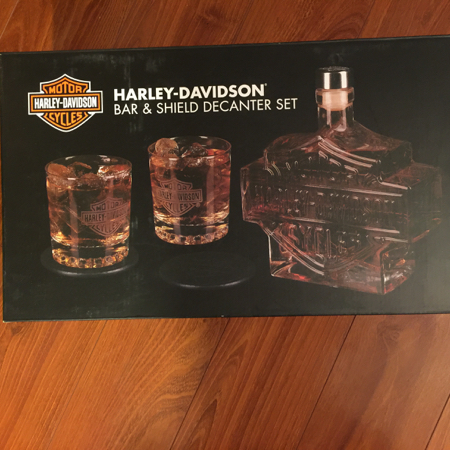 Harley Davidson Decanter Set NIB