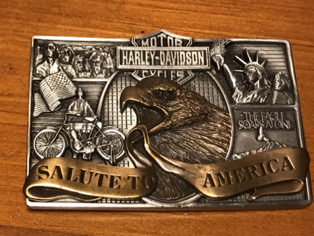 HD Salute to America Pewter Plaque