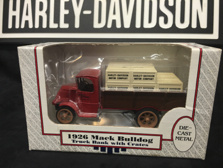 Harley 1926 Mack Bull Dog Crate Bank NIB