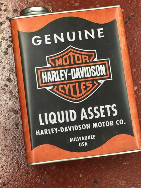 Harley Davidson metal tin bank