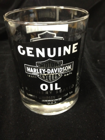 Harley Davidson Vintage oil Can Glass