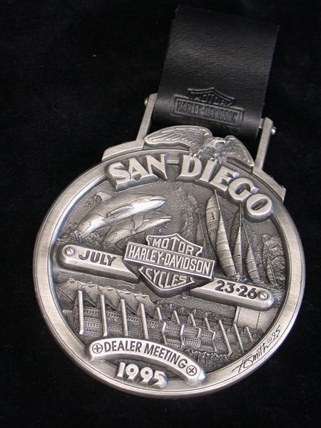 1995 Harley Davidson San Diego Dealer Plaque