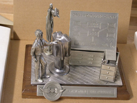2000 University Fine Pewter statue