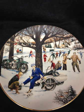 1991 A Skating Party Christmas Plate