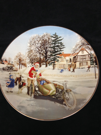 1992 A Suprise Visit Christmas Plate