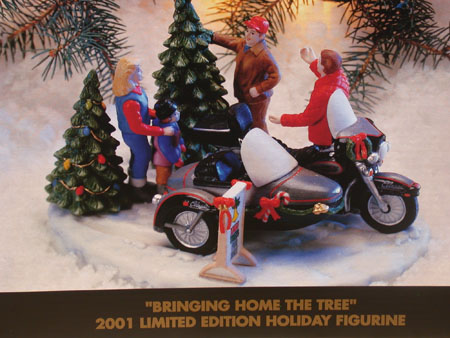 Bringing Home the Tree Christmas Figurine