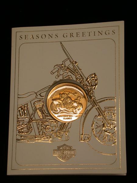 Harley Davidson Season greeting Xmas Medal
