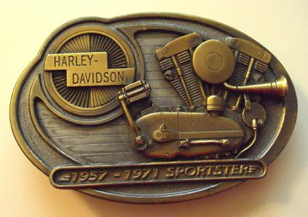 HARLEY DAVIDSON  Buckle 1957-1971 Sportster