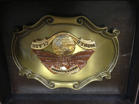 Harley Davidson World Class Raintree Buckle
